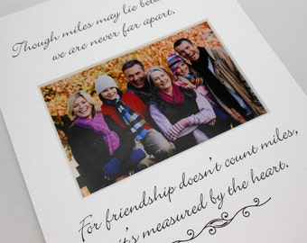 Though miles may lie between 8x10 Picture Photo Mat Design M110