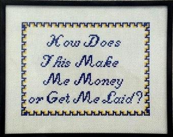 Custom Cross Stitch Sampler