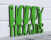 Happy Thoughts MINI sign stocking stuffer (good vibes, inspiration)