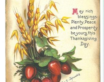 Vintage 1918 Ellen H. Clapsaddle Thanksgiving Postcard