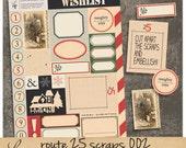 Route 25 oo2 | Vintage Christmas Paper Ephemera | Printable Collage Sheet