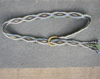 Fingerwoven Belt with Brass Buckle