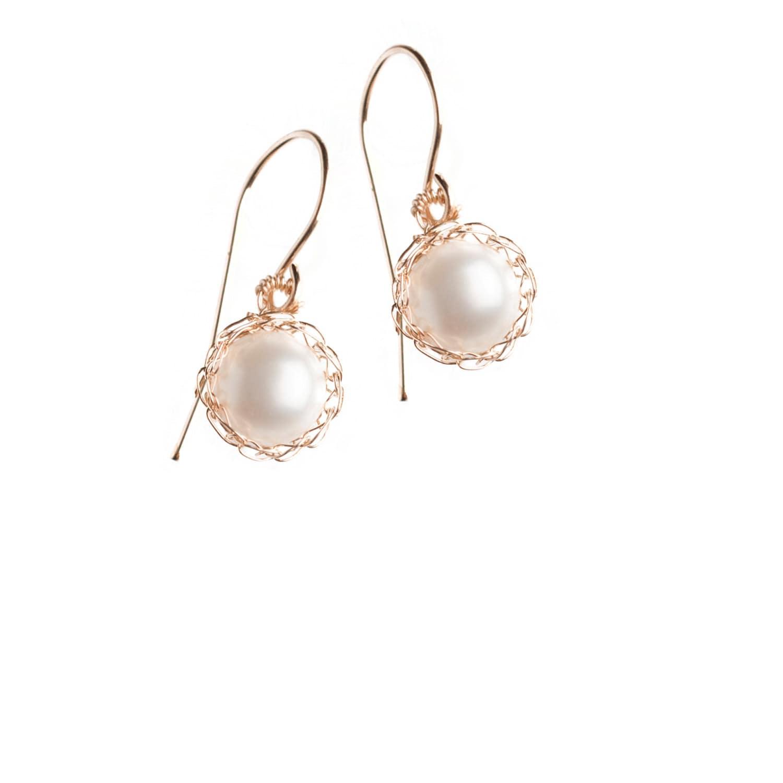 pearl white pearl bridal earrings small pearl earrings