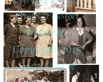 A Woman's Work Digital Collage Sheet