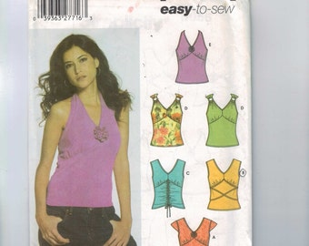 Misses Sewing Pattern Simplicity 5055 Misses Easy Tank Top Short Stretch Knit Size 4 6 8 10 UNCUT