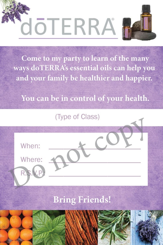 doTERRA Class Invitation by McMillanDesign on Etsy