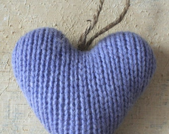 Periwinkle Valentine's Day Heart Ornament, Valentine's Day Ornament, Valentines Decor, Valentines Heart