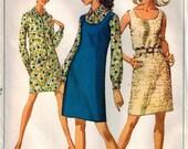 Vintage 60's Sewing Pattern, Misses Dress, Jumper, Shirt-Dress, Size 8