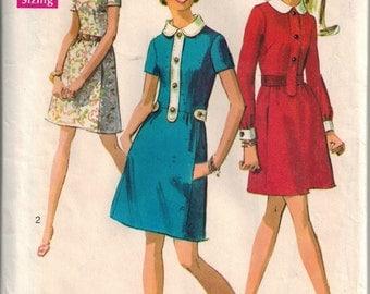 Vintage 60's Sewing Pattern, Misses' Dress, Petite Size 8, Bust 31 1/2
