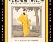 Vintage Sewing Magazine April 1928 Fashion Service Dressmaking Sewing and Fashion Ebook -INSTANT DOWNLOAD-