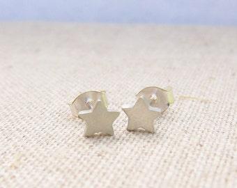 Little Star Stud Earrings - Silver Earrings - Ready to Ship