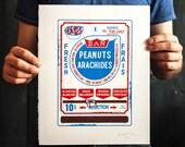 Peanut Vending Machine two-colour hand pulled silkscreen art print