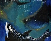 Sea of Stars Acrylics on Mat Board Animals Whale Orca Space