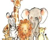 Nursery Art -- Wild Safari -- by Kit Chase