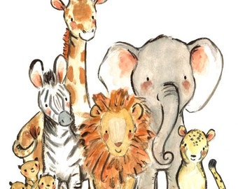 Nursery Art -- Wild Safari -- by Kit Chase