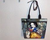 Snow White & Wolves Jasmine Becket Griffith tote bag, book tote, large purse, canvas tote, shoulder bag