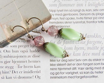 Charming Cherry - earrings with vintage beads