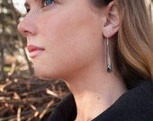 Long Antiqued Hammered Silver Cone Earrings - Contemporary, Modern, Uncommon, Abstract, Hand Made, Different, Unique Wedding, Bridal, Gift.