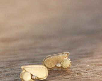 Jennifer Earrings, solid 14K gold earring
