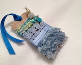 Trim Pack, Stick Pins, Blue Trims, Mixed Media, Scrapbooking, Sewing, Journals, Altered Art, Doll Clothes, Decorations, Albums, Cards, Tags