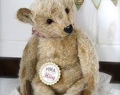 A Big Hug! Hug Me Again collectible teddy bear by V. Galli. Traditional style and wel aged.
