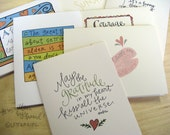Handwritten Greeting Cards:  Mixed Set of 8