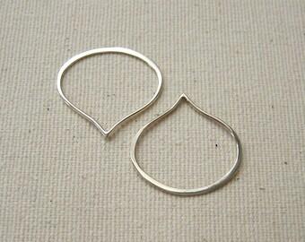 Teardrop Link Sterling Silver 20mm - 2 pieces