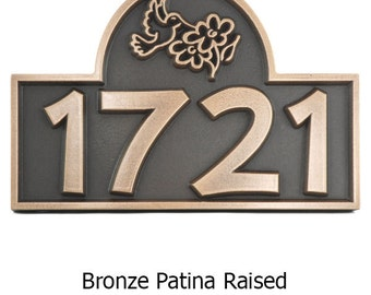 Hummingbird Address or Name Plaque Home numbers 12 x 8 inches custom by Atlas Signs and Plaques made in the usa