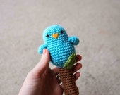 Crochet Toy Pattern - Baby Birdy Rattle Toy