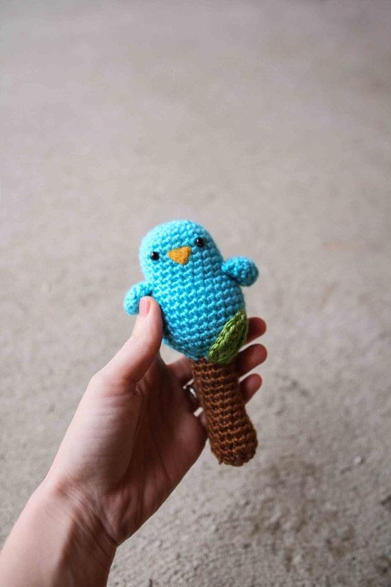 Crochet Toy Pattern - Baby Birdy Rattle Toy