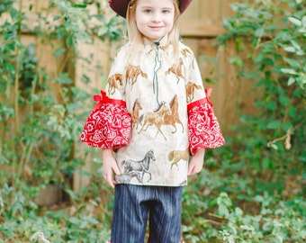 Cowgirl Birthday Party - Cowgirl Outfit - Cowgirl Costume - Toddler Girl Outfit - Ruffle Pants - Little Girl - Rodeo - Boutiq...