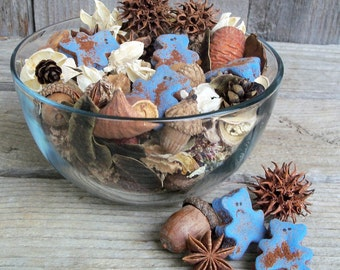 Baby Bear Blue Potpourri, Special Blend, Rustic, Nursery Freshener, Room Scent, Lavender, Chamomile, Baby Gift, Refresher Oil Included