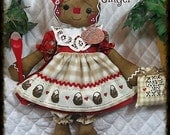"""Primitive Raggedy NEW 19"""" """"Mama Ginger""""~w/ornies~Gingerbread Doll Collection!"""