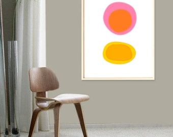 Large Abstract Art, Orange Minimalist, Colorful,  Modern Wall Art, Contemporary Art