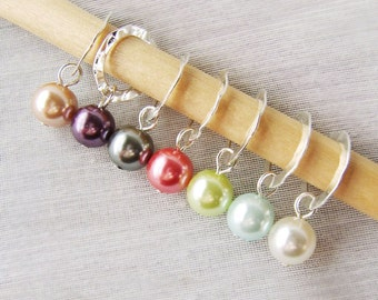 Punch Drunk Love - Seven Handmade Stitch Markers - Fits 6.5 mm (10.5 US) - Open Edition