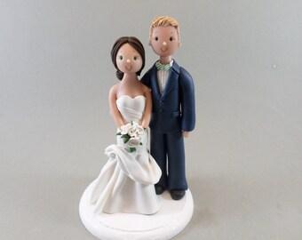 Bride & Groom Custom Handmade Wedding Cake Topper - reserved for