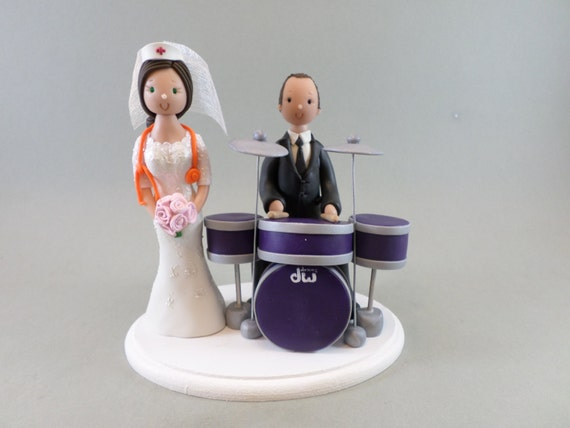 drummer wedding cake topper amp drummer custom made wedding cake topper 13755