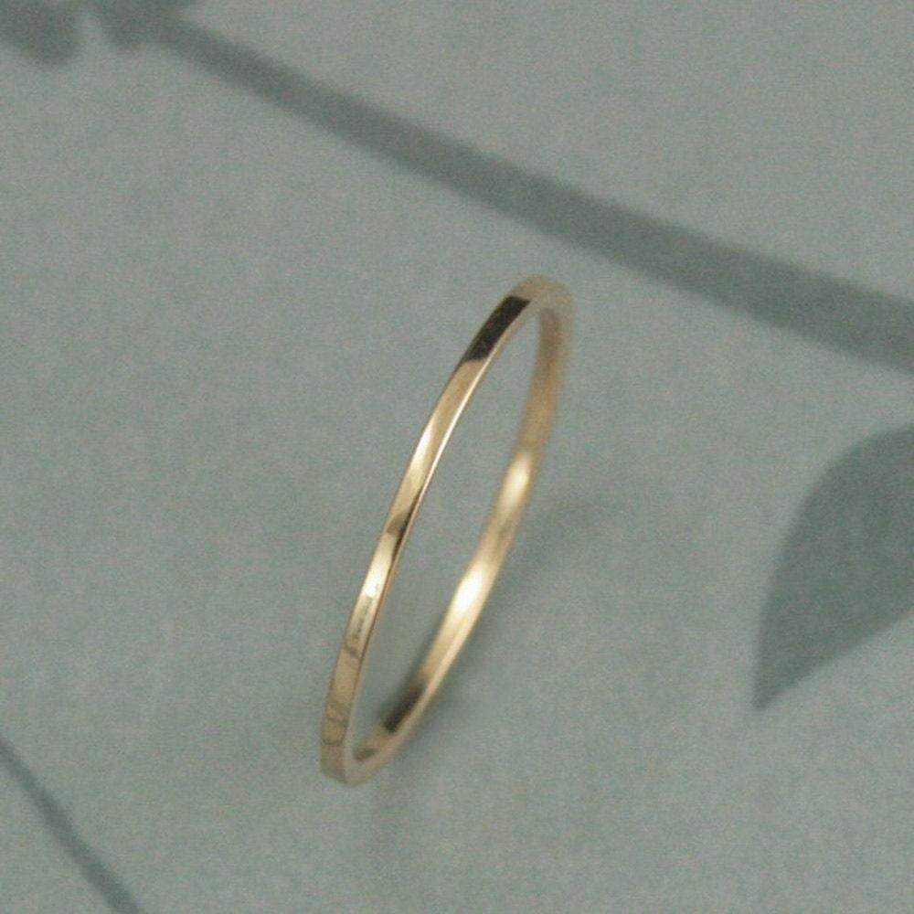 18k wedding band wedding ring spacer Thin Gold Wedding Band 18K Gold Ring Thin Wedding Ring Flat Gold Band 18K Gold Spacer Ring YOUR Choice of Gold Color 18K Rose Gold