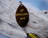 Pittsburgh Steelers  NFL Football Fishing Lure Hand Stamped Gift Idea Husband Dad Father's Day Anniversary Hubby Brother Son Birthday Idea