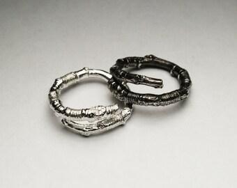 McCarren Park Sterling Silver Twig Ring -open wrap