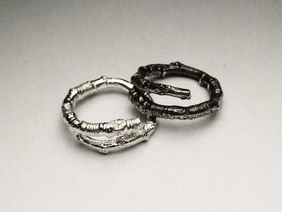 McCarren Park Sterling Silver Twig Ring -open wrap