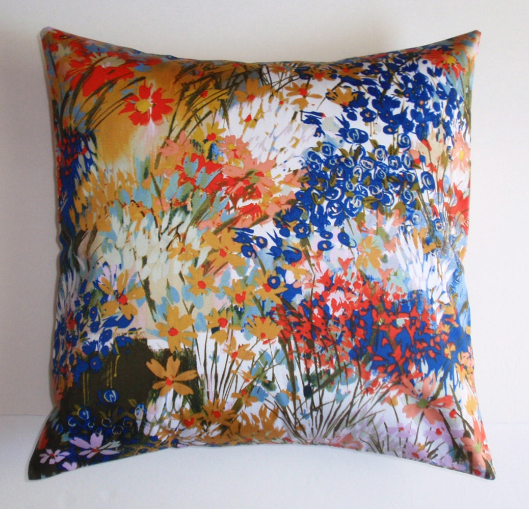 Decorative Pillows Flowers : Throw Pillow Cover Floral Accent Pillow Decorative Cushion