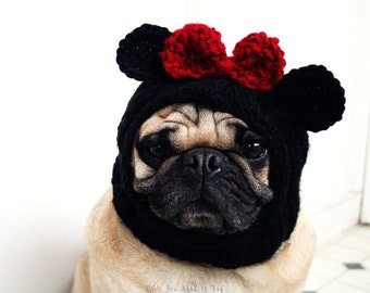 Dog Hat - Miss Mouse Hat - Pet Clothing - Pet Supplies - Dog Clothing - Dog Accessories