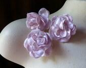 Velvet Roses 3 in Pink for Bridal, Headbands, Crafting