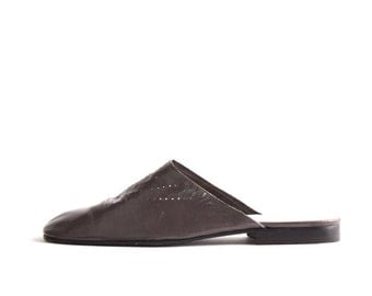 Jil Sander Gray Leather Slides 8