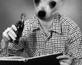 Custom Soda Drinker Pet Portrait