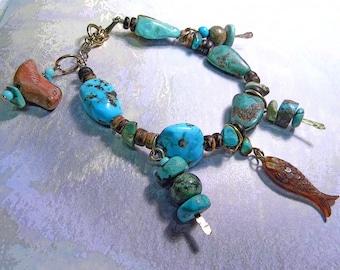 Turquoise Nuggets Bracelet