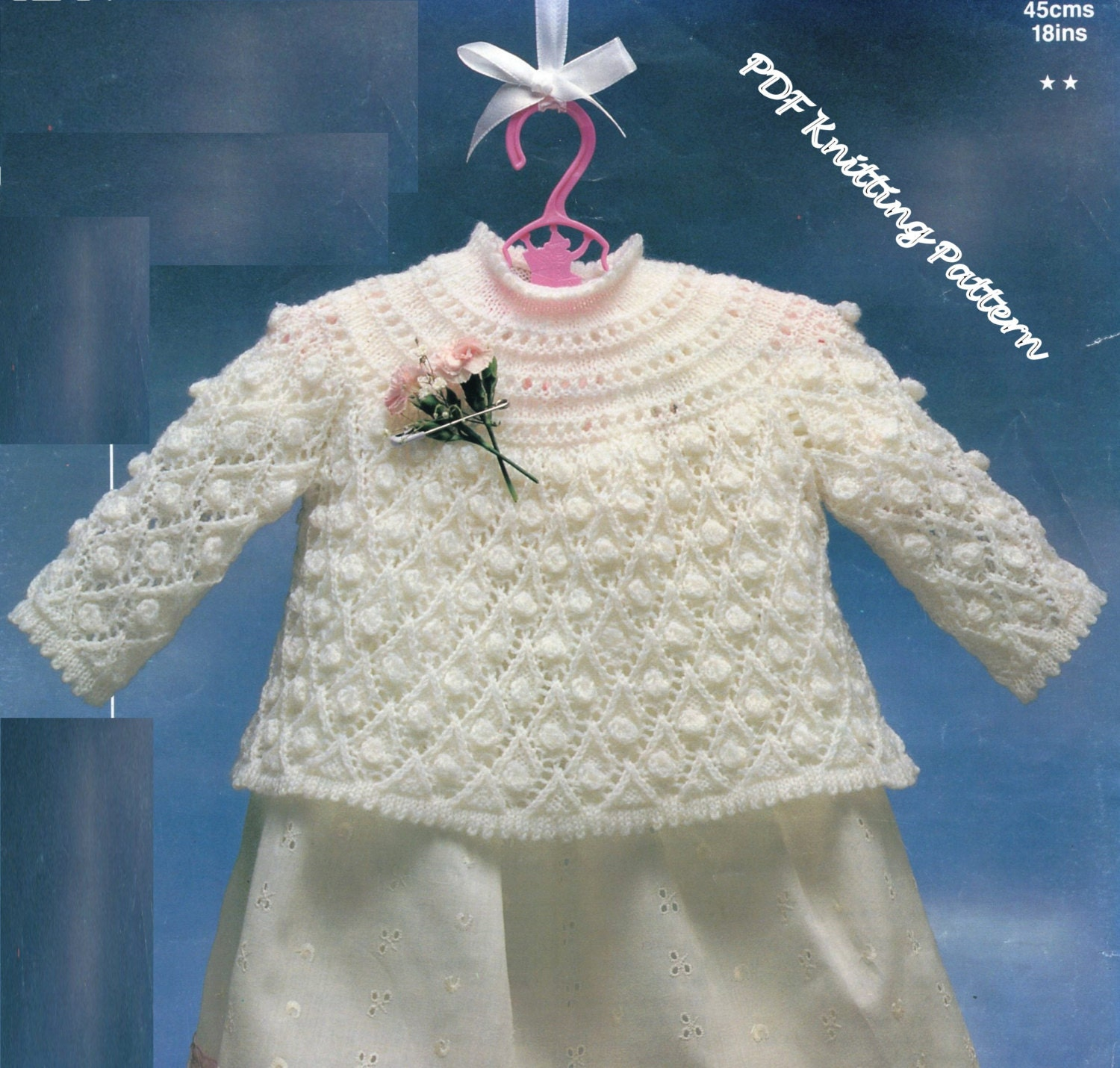 Free Knitting Patterns For Angel Babies : PDF Knitting Pattern / Baby Angel Top / by LoveFromNewZealand