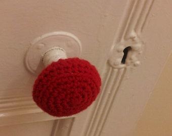 Doorknob Cozies - crochet doorknob cover - crochet door handle - door handle cozy - doorknob warmer - new home gift - nursery door decor