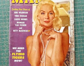 Modern Man, December 1961, vintage adult picture magazine, flying tigers, mancave, scrapbook